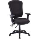 Lorell Accord Fabric Swivel Task Chair, Polyester Black Seat - Black Frame - 26.8