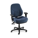 Lorell Baily High-Back Multi-Task Chair, Acrylic Blue Seat - Black Frame - 26.9