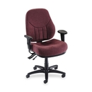 Lorell Baily High-Back Multi-Task Chair, Acrylic Burgundy Seat - Black Frame - 26.9