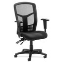 Lorell 86000 Series Executive Mesh Back Chair, Black - Mesh Fabric Black Seat - Black Frame - 28.5