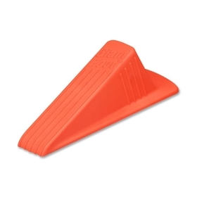 "MASTER Giant Foot No-Slip Doorstop, 2"" Door Clearance - Non-skid Base, Prevent Scratches - Rubber - 2"" x 3.5"" x 6.25"" - Safety Orange, Price/EA"