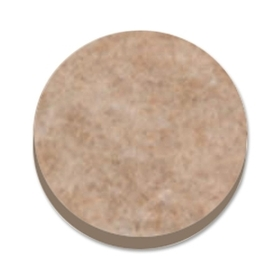 "MASTER MAS88496 Master Scratch Guard 88496 Heavy Duty Felt Pads, 16 Pad of 1"" Diameter - Circle - Self-adhesive - Beige - Polyester - 16/Pack, Price/PK"
