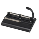 Master Three-Hole Punch, 3 Punch Head(s) - 32 Sheet Capacity - 11/32