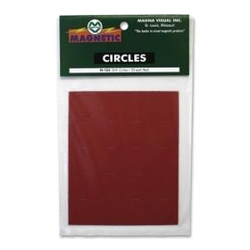 """Magna Visual MAVFI123 Magna Visual Magnetic Circles, Circle - 0.8"""" Diameter - Magnet - Red, Price/PK"""