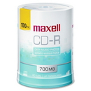 Maxell CD Recordable Media - CD-R - 48x - 700 MB - 100 Pack, 120mm1.33 Hour Maximum Recording Time