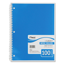 Mead One Subject Notebook, 100 Sheet - Wide Ruled - 8