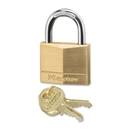 Master Lock Keyed Padlock, Keyed Different - Brass Body, Steel Shackle - Brass