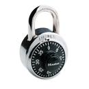 Master Lock Combination Padlock, 3 Digit - Steel Body, Steel Shackle - Silver