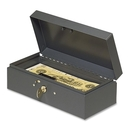 MMF Steelmaster Cash Box with Lock, Steel - Gray - 2.9