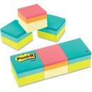 Post-it 2x2 Ultra Colors Convenient Memo Cubes, Repositionable, Self-adhesive - 2