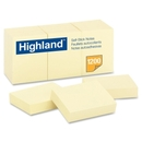 Highland Self-Sticking Note, Self-adhesive, Repositionable - 1.50