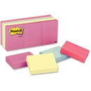 Post-it Notes in Pastel Colors, Self-adhesive, Repositionable - 1.38