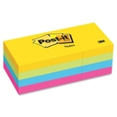 Post-it Notes in Ultra Colors, Self-adhesive, Repositionable - 1.50