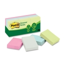 Post-it Sunwashed Pier Recycled Notes, Self-adhesive, Repositionable - 1.50