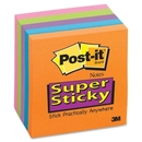 Post-it Super Sticky 3x3 Electric Glow Notes, Self-adhesive - 3