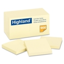 Highland Self Sticking Note, Removable - 3