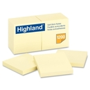 Highland Self-Sticking Note Pad, Self-adhesive - 3