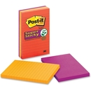 Post-it Super Sticky Electric Glow Lined Notes, Self-adhesive - 4
