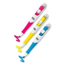 Post-it Flag Highlighter Pen, Yellow, Pink, Blue Ink - 3 / Pack