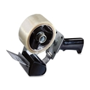 3M Tartan Pistol Grip Box Sealing Tape Dispenser, Holds Total 1 Tape(s) - Refillable - Adjustable Tension Mechanism, Adjustable Braking Mechanism - Gray
