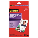 Scotch Self-Laminating ID Clip Style Pouch, Horizontal - 25 / Pack - Clear