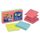 Post-it Super Sticky Jewel Pop Pop-up Refills, Self-adhesive, Repositionable - 3