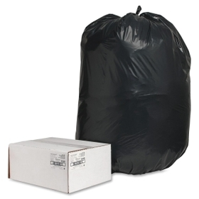 Nature Saver Heavy Duty Recycled Trash Liner, 60 gal - 2mil Thickness - Plastic - 100 / Box - Black, Price/BX