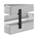 Rolodex Stacking Tray Support, Wood - Black