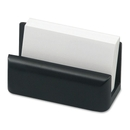 Rolodex Wood Tones Card Holder, Wood - 1 Each - Black