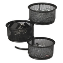 Rolodex Expressions Wire Mesh 3-Tier Swivel Tower, Steel - 1 Each - Black