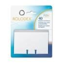 Rolodex Business Card Sleeve Refill, 40 Card - 12 A-Z - Clear