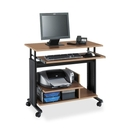 Safco Adjustable Mini-Tower Workstation, Rectangle - 35.50