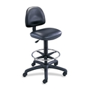 Safco Precision Extended Height Drafting Chair, Black - Vinyl Vinyl Black Seat - Black Frame - 26