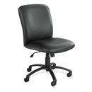 Safco Uber Big and Tall High Back Executive Chair, Vinyl Black, Foam Seat - Black Frame - 27