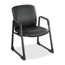 Safco Uber Big and Tall Guest Chair, Vinyl Black, Foam Seat - Steel Frame - 27.3
