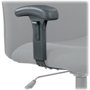 Safco Adjustable T-Pad Arm Kit for Big & Tall Chairs, Black - 2 / Pair