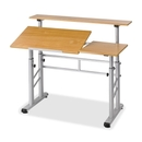 Safco Height Adjustable Split Level Drafting Table, Rectangle - 47.25