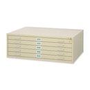 Safco 5-Drawer Steel Flat File, 35.4