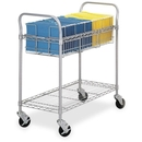 Safco Wire Mail Cart, 600 lb Capacity - 4 x 4