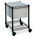 Safco Compact Mobile File Cart, 1 Shelf - 4 Caster - Steel - 15.5
