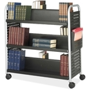 Safco Scoot Double Sided Book Cart, 6 Shelf - 4 x 3