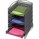 Safco 5 Drawer Mesh Desktop Organizer, 15.3