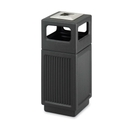 Safco Recessed Panels Waste Receptacle, 15 gal Capacity x 13.8