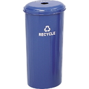 Safco Recycling Receptacle with Lid, 20 gal Capacity - 30