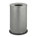 Safco Black Speckle Open Top Receptacle, 35 gal Capacity - Round - 8.50