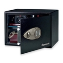 Sentry Safe Security Safe, 1.20 ft? - Electronic, Key Lock - 2 x Live-locking Bolt(s) - 10.6