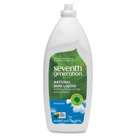 Seventh Generation Natural Dish Liquid Soap, Liquid Solution - 25fl oz - Clear, Price/EA
