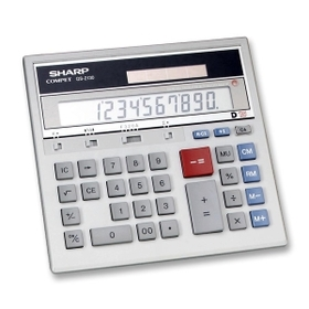 "Sharp SHRQS2130 Sharp QS2130 Commercial Display CalculatorQS2130 Commercial Display Calculator, 1 Line(s) - 12 Character(s) - LCD - Battery, Solar Powered - 0.7"" x 7.3"" x 6.9"" - Gray, Price/EA"