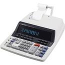 "Sharp QS2760H Commercial Print Calculator, 12 Character(s) - Fluorescent - AC Supply Powered - 3"" x 10"" x 13.3"" - Light Gray"