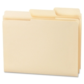 "Smead SuperTab Oversized Tab Folder, Letter - 8.5"" x 11"" - 1/3 Tab Cut - 0.75"" Expansion - 100 / Box - 11pt. - Manila, Price/BX"